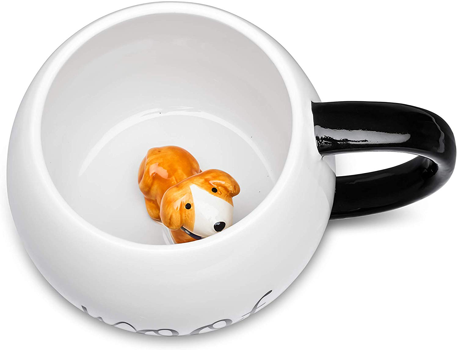 Ceramic Coffee Mug With 3D Animal Surprise