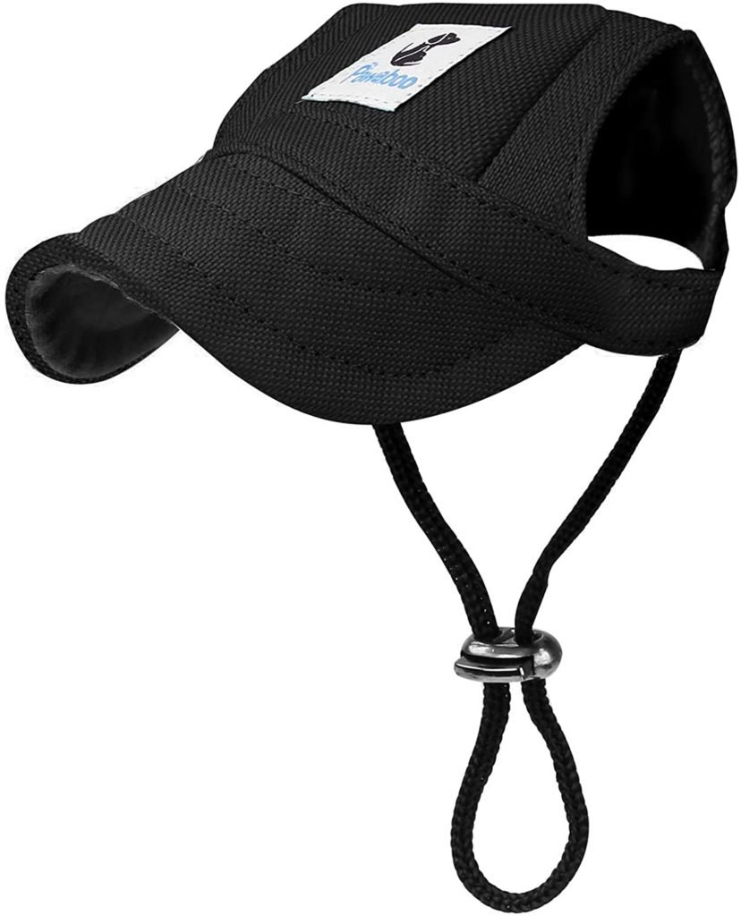 Pawaboo Dog Baseball Cap, Adjustable Dog Outdoor Sport Sun Protection Baseball Hat Cap Visor Sunbonnet Outfit with Ear Holes for Puppy Small Dogs